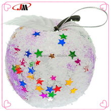 Christmas Snowball Apple fashion ornaments,diy Christmas festive party decorations