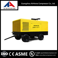 High effiency mobile diesel engine driven screw portable air compressor for sale