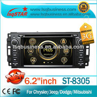 High Quality LSQ Star Car Dvd Player For Chrysler Pt Cruiser Town and Country Aspen Cirrus With 3g dvd bluetooth tv ipod