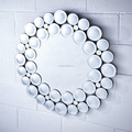 round shape home decoration fashion Beveled silver mirror with polished round point