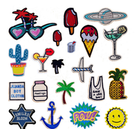 Cheap custom embroidery sequin t shirts patches