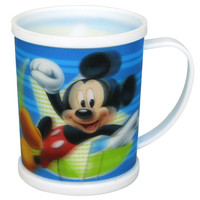 Colored Factory Supply Printed 3D Lenticular Clear Plastic Cups With Straws