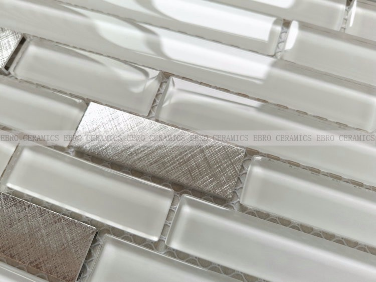 Ebro Mosaic factory supply linear glass mosaic tile for building material