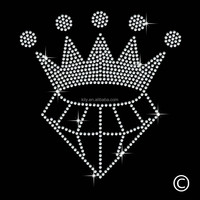 Fashion fun hot fix rhinestone transfer motif/rhinestone motif Crown iron on coat
