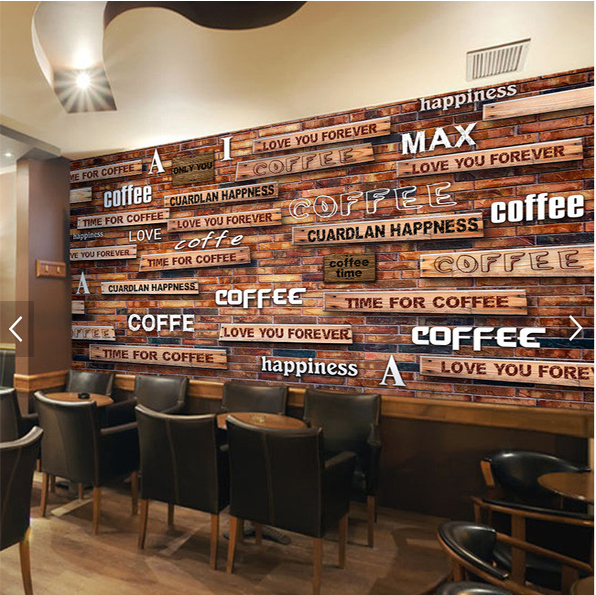 Retro Style/European Style Wall Mural Home/Bar/Cafe/Hotel Decoration 3D Wallpaper