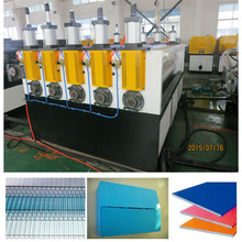 PP / PC Plastic Hollow Grid Sheet Extrusion Machine Single Screw extruder