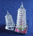 Exquisite crystal tower model glass towel model crystal craft for decoration