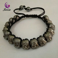 Jenia New Fashion Handmade Buddha Heads Mens Bracelets