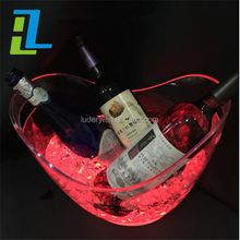 2016 Promotional champagne wine cooler/clear acrylic Plastic ice bucket