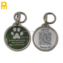 Pet identification tag / metal qr code dog id tag