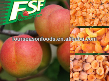 price for wholesale chinese IQF/frozen apricot halves/dices ,chinese frozen vegetables 2016 new season