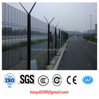 Pvc coated 358 High Security Fence anti-climb fence mobile security fence