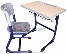 Cheap Education Furniture Classroom Single Desk and Chair for Students