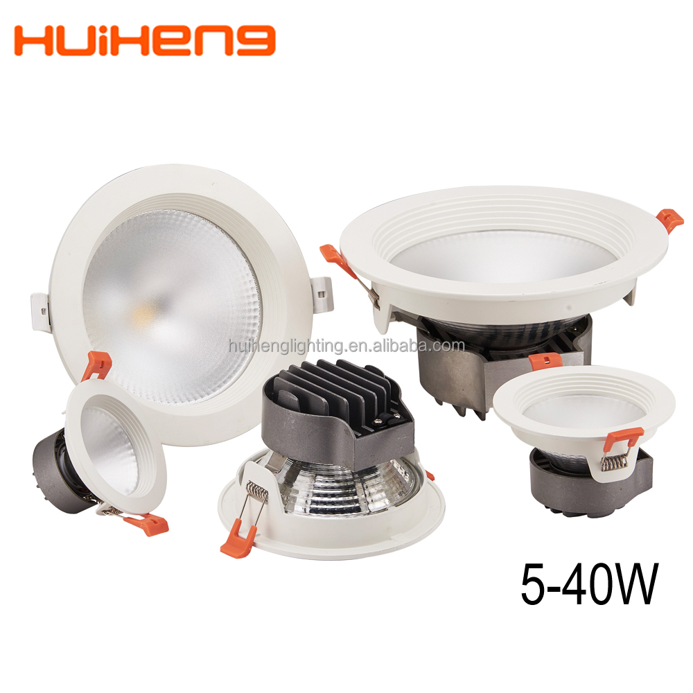 Recessed dimmable 5w 6w 7w cob cree 80mm cut out led downlight