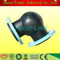 flexible pipe fitting with flange 90 degree rubber elbow