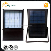 Battery and Solar panel attached IP65 outdoor all in one solar led flood light