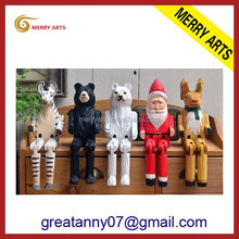 hot new products for 2016 yiwu market wholesale wooden art minds crafts craved smoking man