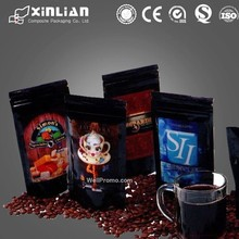 round bottom stand up plastic coffee packaging bag/coffee mate plastic packgaiging bag/hotest desgn stand up pouch with zipper
