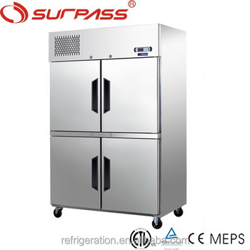 D1.0L4C Commercial Four Doors Kitchen Refrigerator/freezer/stainless steel freezer