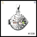 Hot Sale New Desgin Silver 925 Evergreen Tree Pearl Cage Pendant