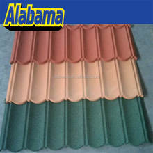 Zinc-alume Durable Stoned Metalled In Nigeria Deco Top Grade Price Stone-coated Pop Sheets Standard Modern Roof Tile