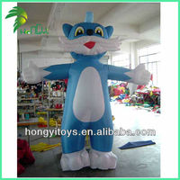 Blue Cat Inflatable Moving Cartoon Pictures For Kids