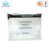 Manufacturing Clear zippered vinyl portable pvc cosmetic bag