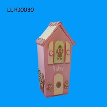 Girl's Love Pinky House Shaped Piggy Bank