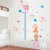 Customized removable creative PVC kindergarten children's room baby house cute water baby elephant animal height wall stickers
