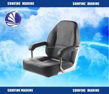 High quality boat helm chair Stainless steel (304) frame with arm rests