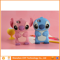 3d cartoon stitch silicone soft protective case cover for samsung galaxy y duos s6102