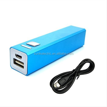 New 2600mAh Mobile Phone Power Bank Metal Case Backup USB External Battery Charger For Apple iPhone iPad iPod Samsuang MP3 MP4