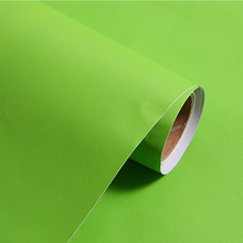 PVC self adhesive decorative film pure color vinyl wallpaper wall covering
