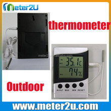 Black/White Digital LCD Calendar Alarm Clock Display date time in outdoor thermometer