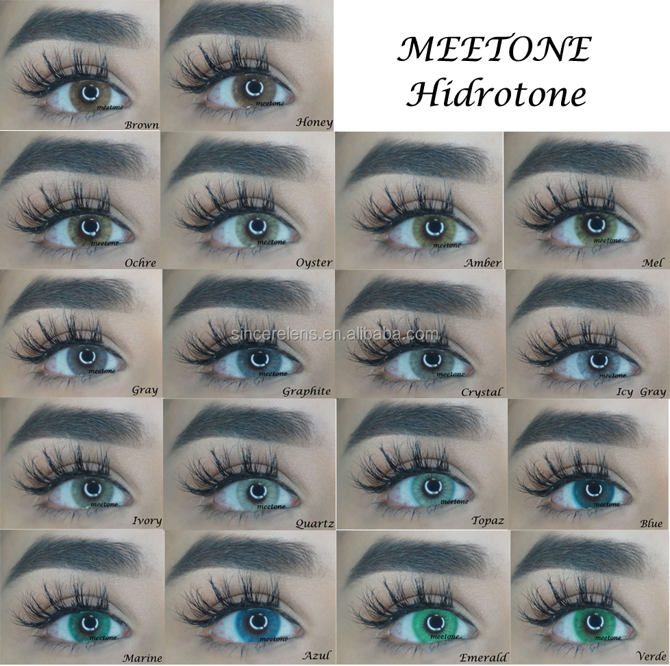 Meetone Hidrotone Super Natural 18 Colors Wholesale Yearly Soft Color Contact Lens