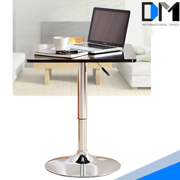 China Supplier Office Furniture Square Wooden Table With Metal Table Legs