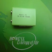 Long life solar battery 9v nimh battery 180mah ni-mh rechargeable battery