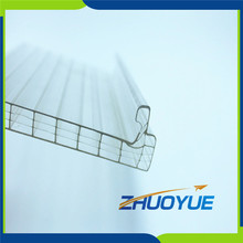 Waterproof daylighting 16mm u-lock polycarbonate/pc sheet
