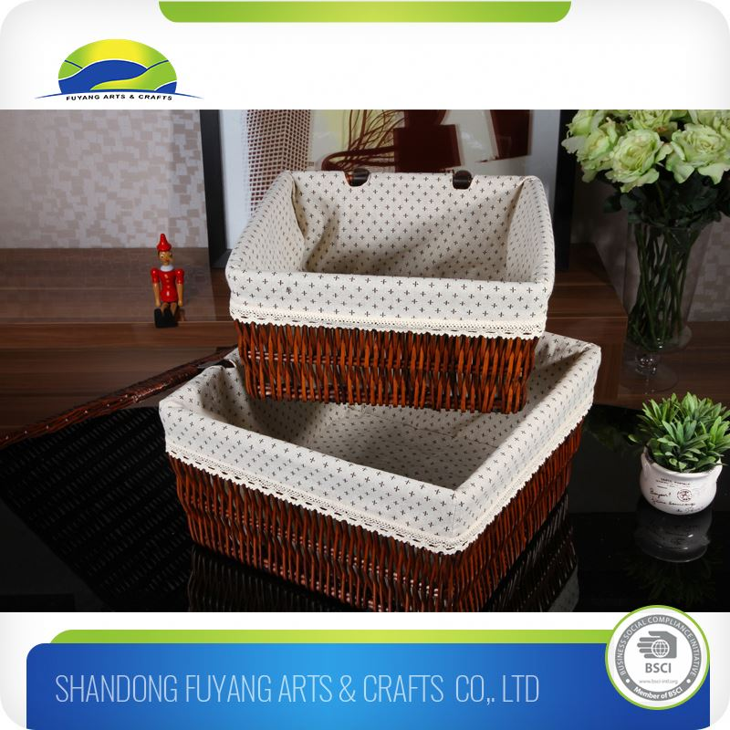Decoration Art Craft Rattan Storage Basket With Compartment