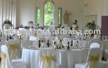 banquet wedding chair cover and organza sash
