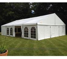 Pvc tents with christmas decorated wedding lodge