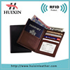 Genuine leather RFID blocking passport wallets