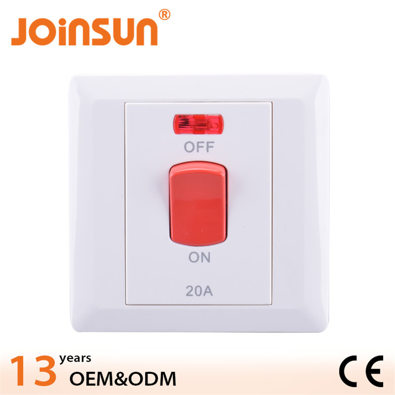 86mm x 86mm square white body CE general switch company