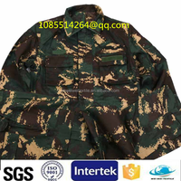 military uniforms camouflage sweat pants fabric digital print fabric Camouflage grid T/C CVC fabric