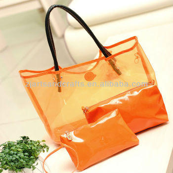 HX131643 Transparent PVC Handbag Set