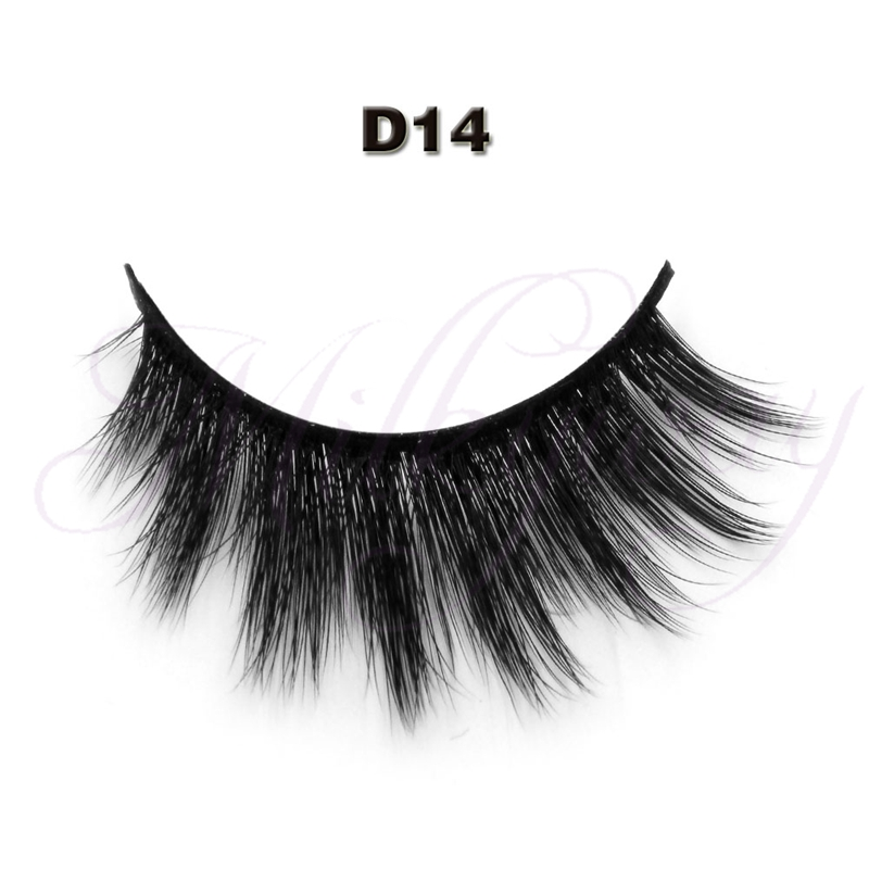 milkyway Customized Package 3D Eyelash 3D Faux synthetic silk False Eyelashes
