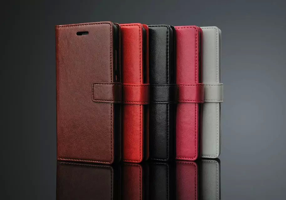 Luxury Business Style Stand Wallet Cases For HuaWei P8 Lite/P8 Mini/ With Card Slot PU Leather Case