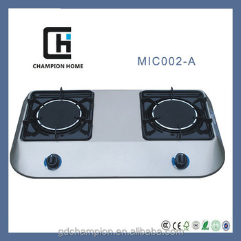 Glass top 2 burner gas stove MIC002 Glass Gas Cooker
