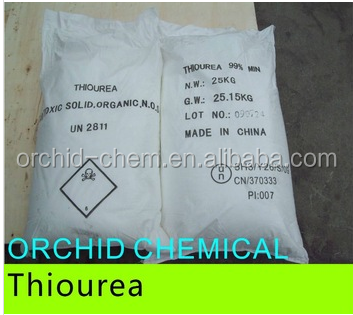 High Purity Chemical 99% min thiourea Thiocarbamide CAS#62-56-6