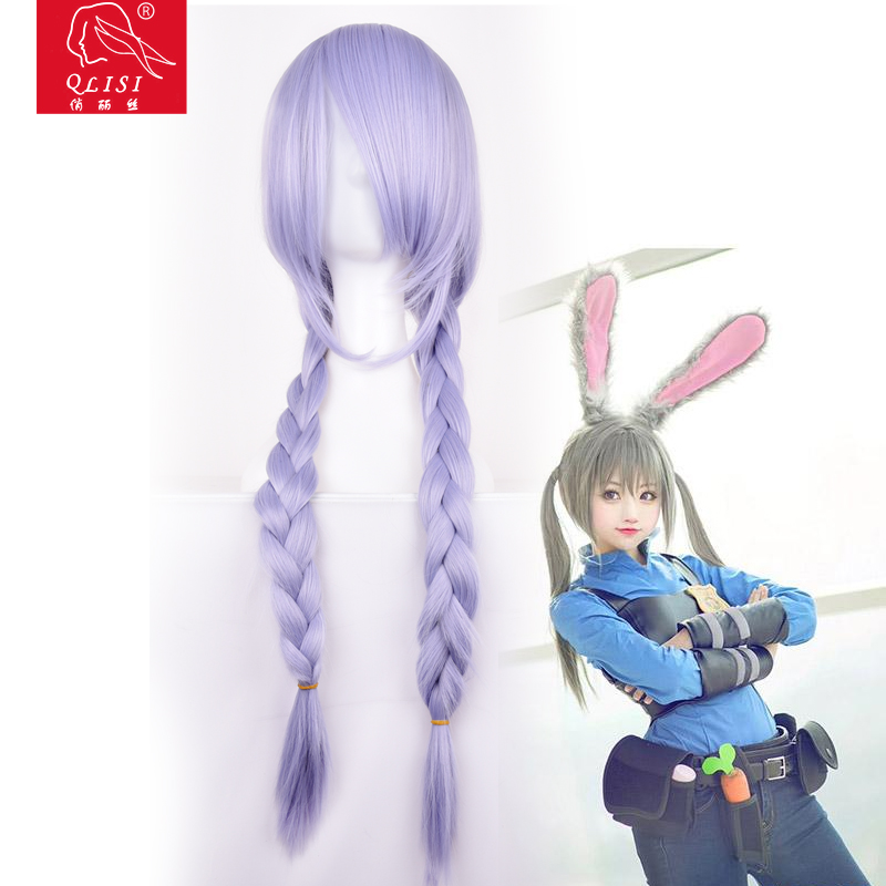 Curly wave hairs natural wigs purple sweet girl full wig curly wavy long hair anime costume cosplay